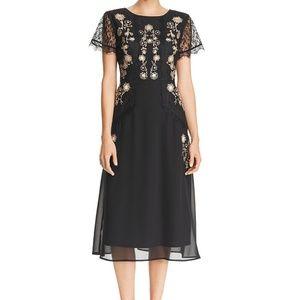 NWT Nanette Lepore Black Gold Lace Dress